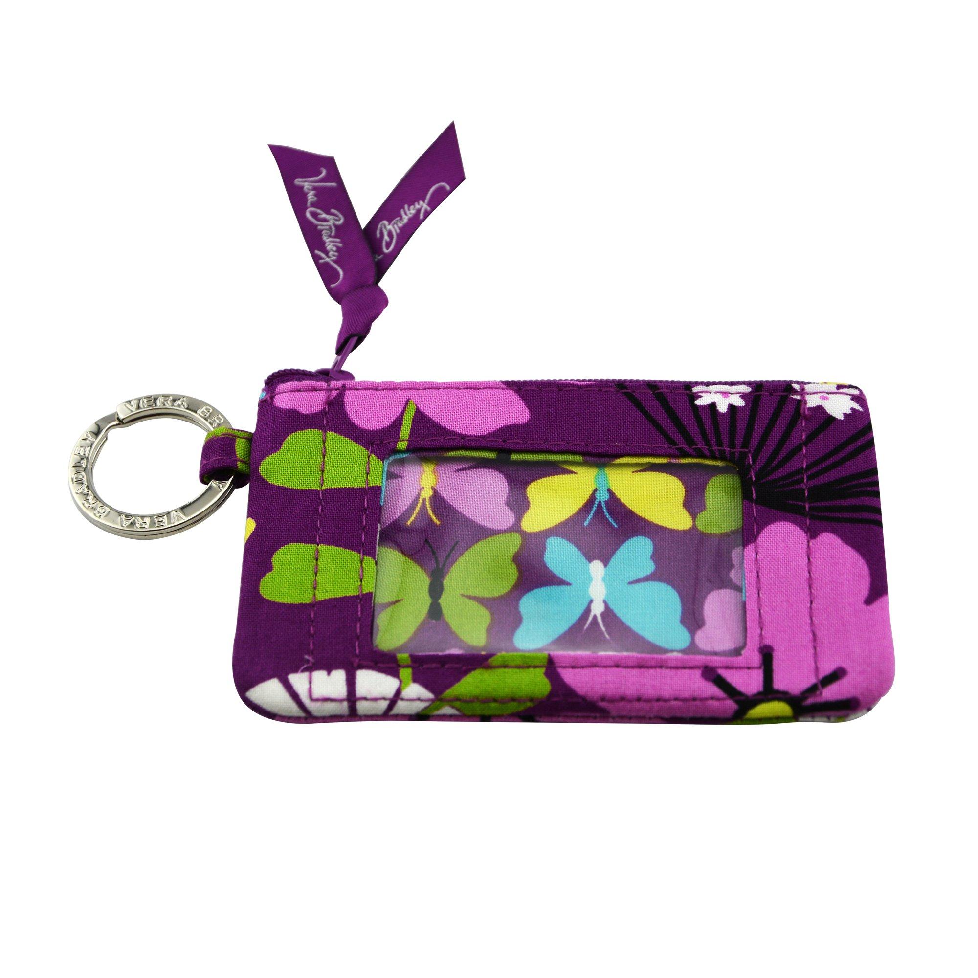 Vera Bradley Zip ID Card Case (Flutterby)