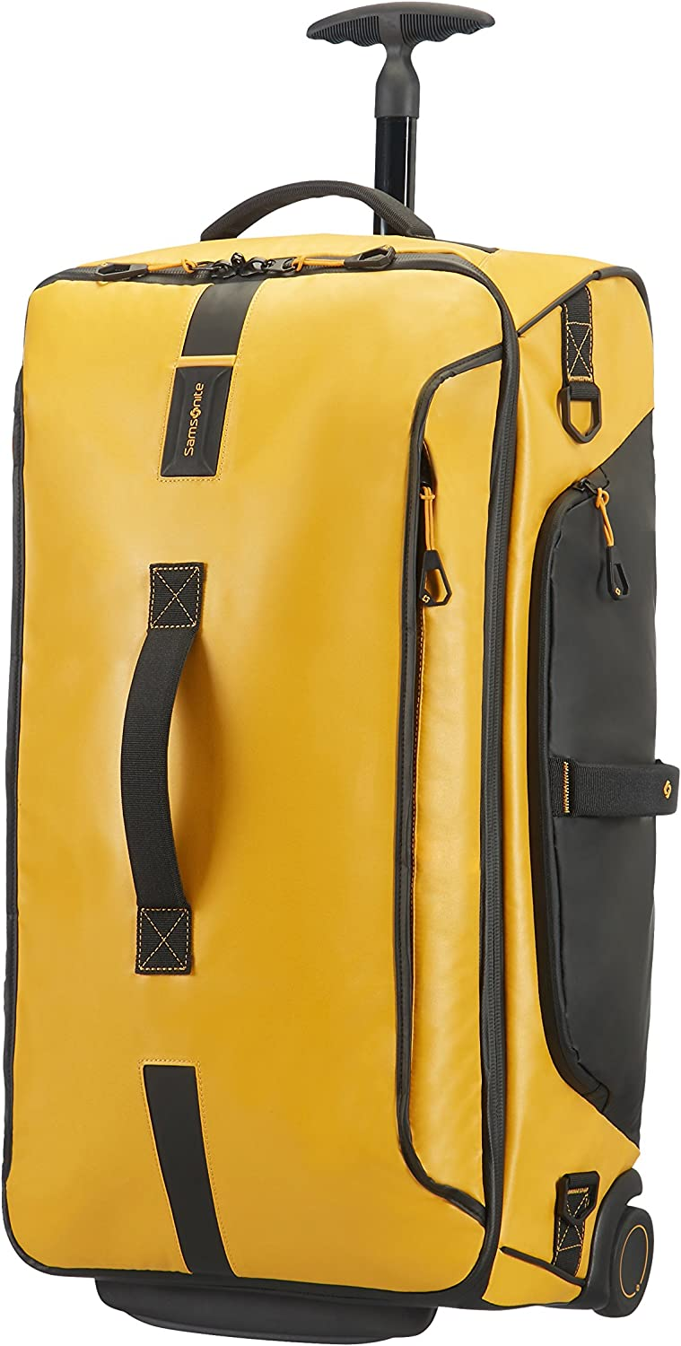 Samsonite Paradiver Light - Bolsa de viaje con ruedas, M (67 cm - 74.5 L), Amarillo (Yellow)