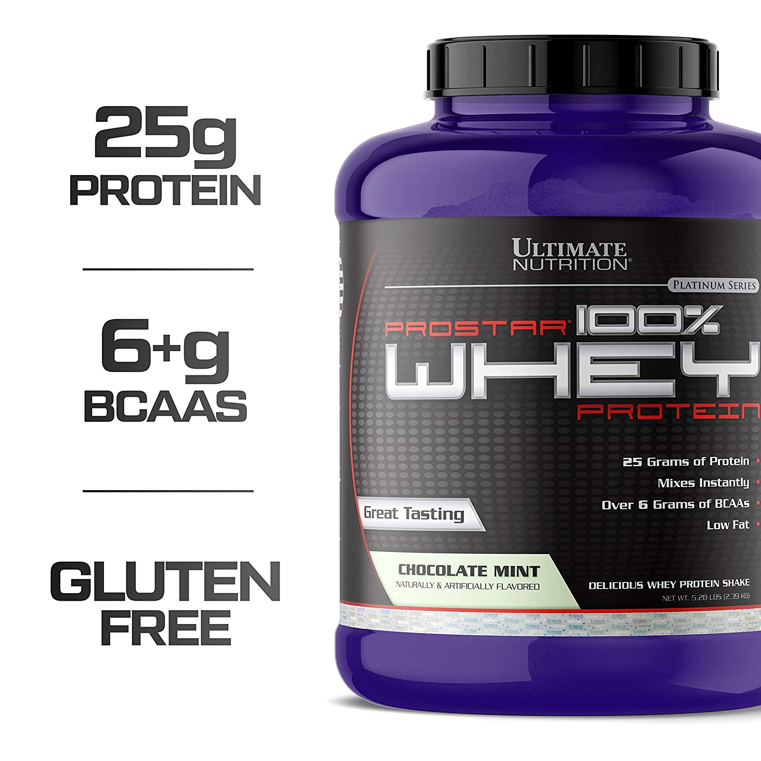 Ultimate Nutrition Prostar 100% Whey Protein - 5 28 lbs (Chocolate Mint)