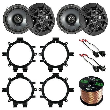 car speaker bundle combo: 2 pairs of kicker 40cs654 6 5