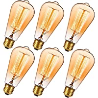 6-Pk Oak Leaf Edison 40W Incandescent Light Bulb