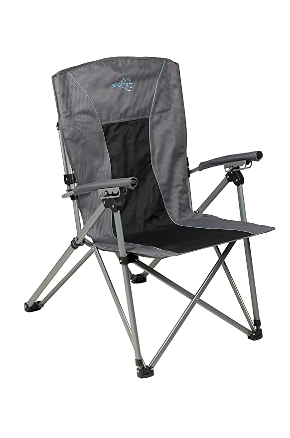 Bo-Camp King Deluxe Plus-Silla Plegable, Color Gris: Amazon ...