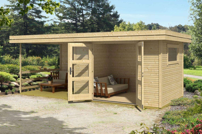 Jardín Casa G145 con soporte suelo, Terraza y Arrastre techo – 28 ...