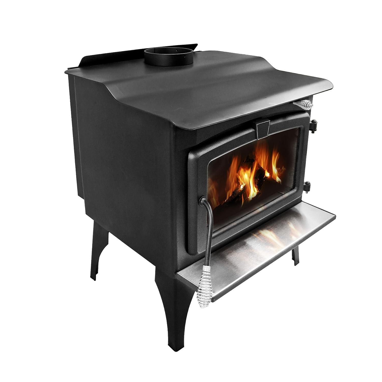 amazon com pleasant hearth 2 200 square feet wood burning stove