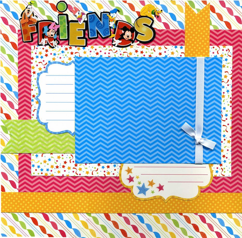 Friends - Premade Scrapbook Page