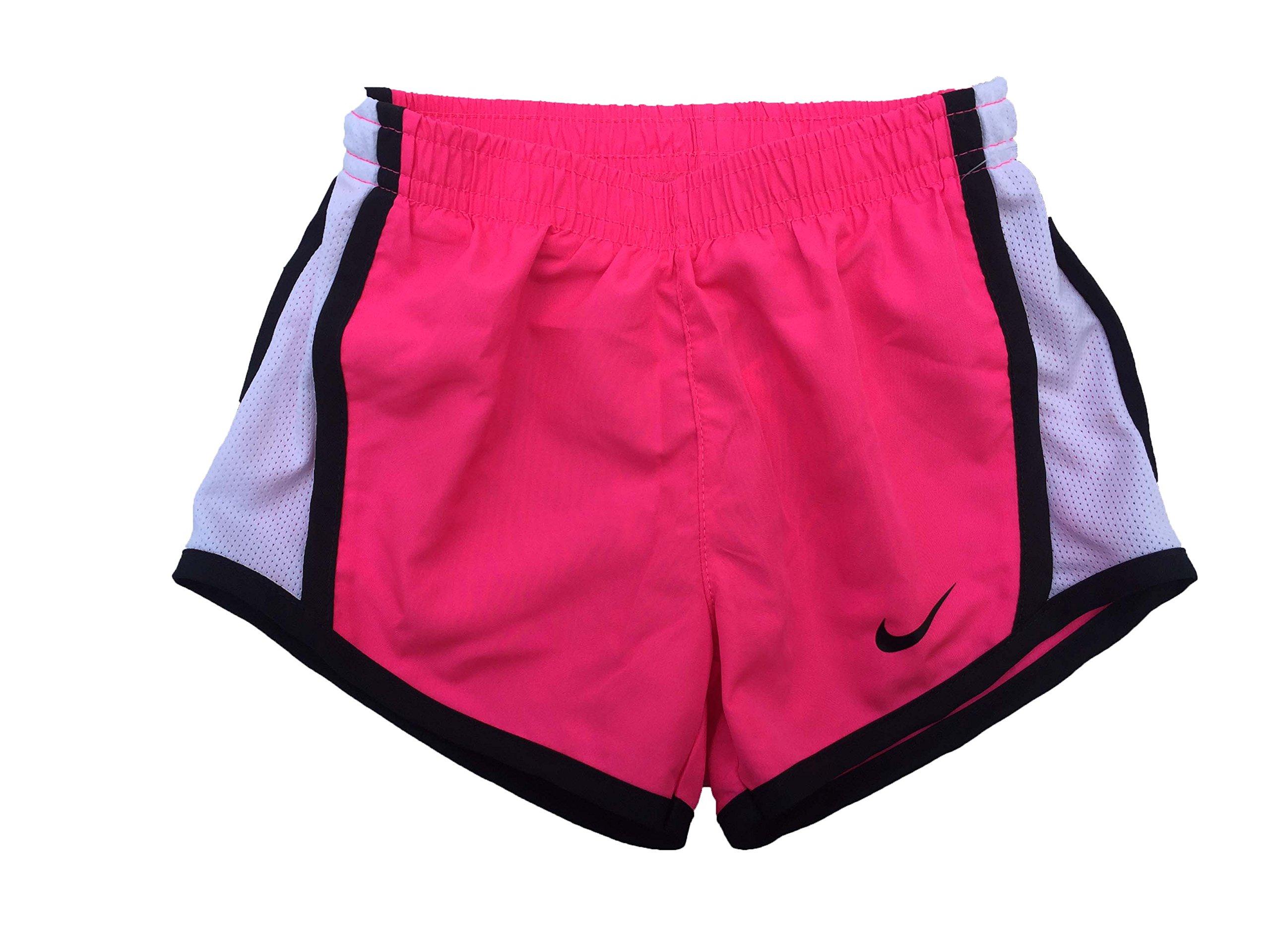 NIKE Girls' Dry Tempo Running Shorts (Hyper Pink (267358-A1U)/Black/White, 2T)