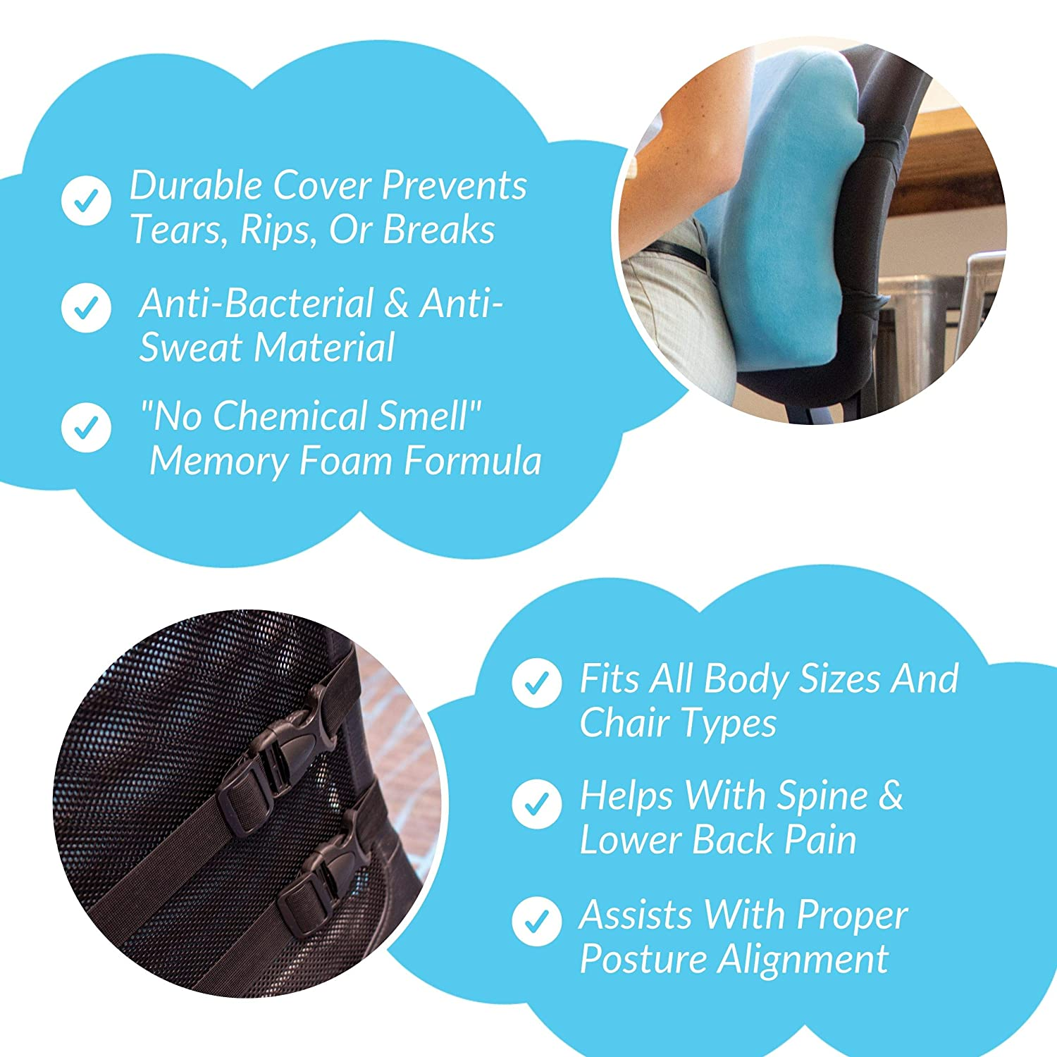 Amazon.com: Wonder Comfort Lumbar Support for Office Chair ...