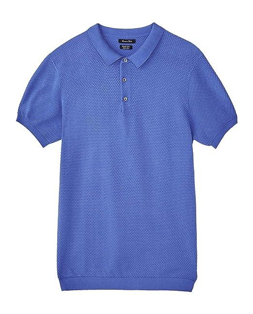 MASSIMO DUTTI 0951/444 - Suéter de algodón para Hombre Azul Azul ...