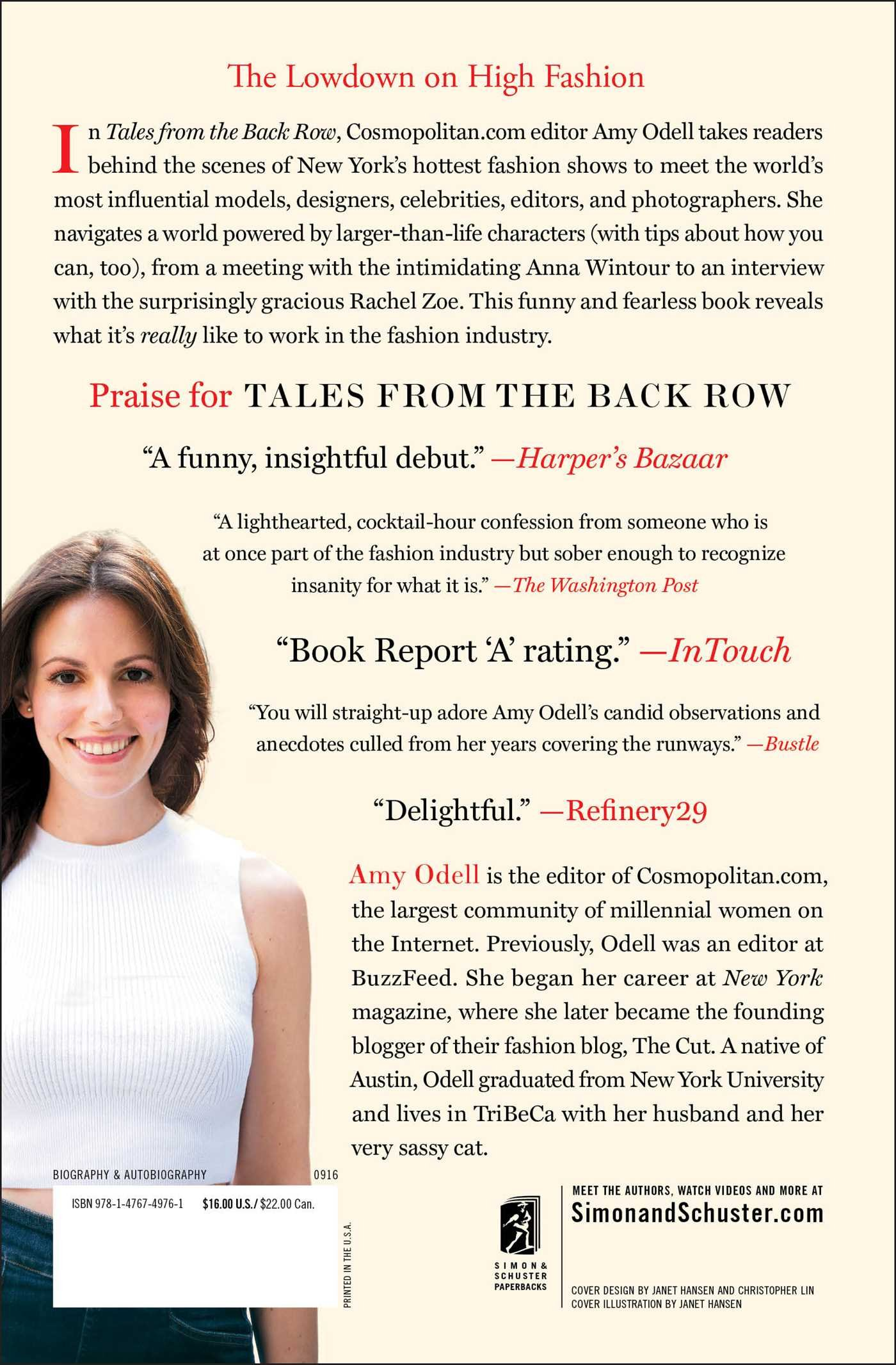 Tales from the back row an outsiders view from inside the fashion tales from the back row an outsiders view from inside the fashion industry amy odell 9781476749761 amazon books fandeluxe Image collections