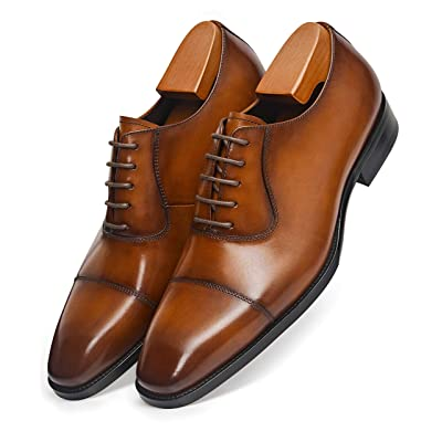 Frasoicus Men's Dress Oxford Formal Shoes LeatherBusiness Shoes for Men | Oxfords