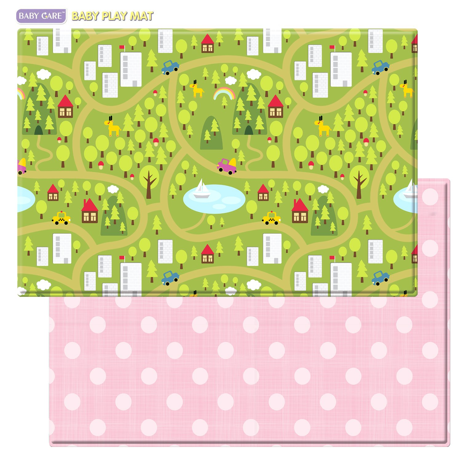 Amazon Baby Care Play Mat Country Town Pink Floor