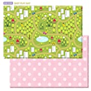 Baby Care Play Mat - Haute Collection (Large, Country Town - Pink)