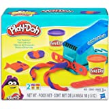 Play-Doh - Fun Factory Set inc 2 Tubs of Dough, Fun Factory Tool & 2 Rails - Creative Kids Toys - Ages 2+