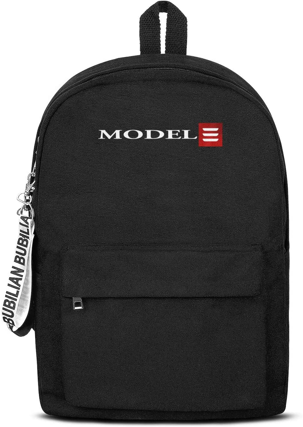 School College Black Book Bags with Pencil Case Tesla-Logo- Casual Travel Laptop Canvas Backpacks