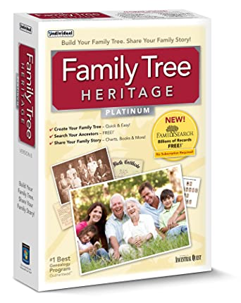 amazon com individual software family tree heritage platinum 8