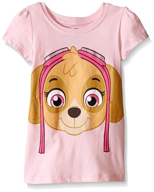 f703ac46f0583 Paw Patrol Toddler Girls' Short Sleeve T-Shirt Shirt, Pink Skye, ...