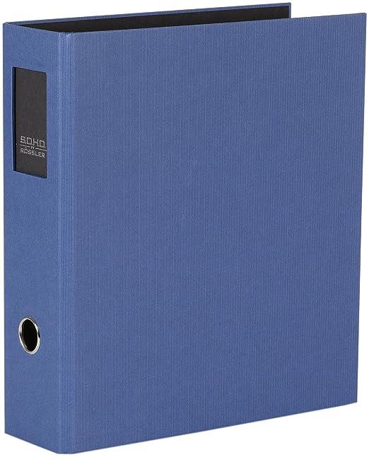 Archivador de palanca SoHo Rossler, tamaño A4, con lomo de 80 mm y placa identificativa de metal, en color verde lima: Amazon.es: Oficina y papelería