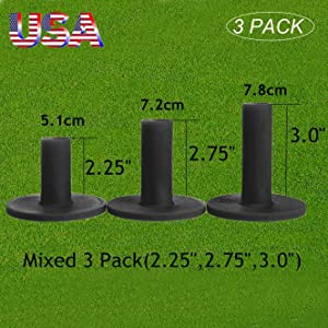 Amy Sport Golf Rubber Tees Driving Range Different Size, Professional Durable Tee Set for Indoor Outdoor Practice Mat…