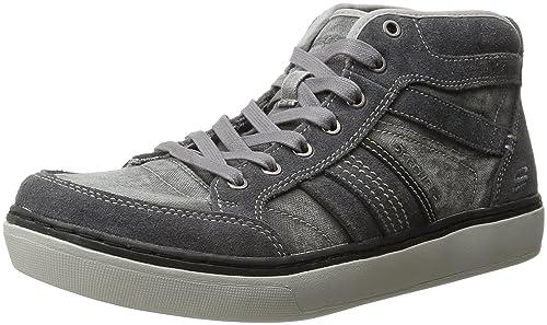 Skechers Palen Nando Relaxed Fit Zapatillas de Deporte de los hombres-Grey-44: Amazon.es: Zapatos y complementos