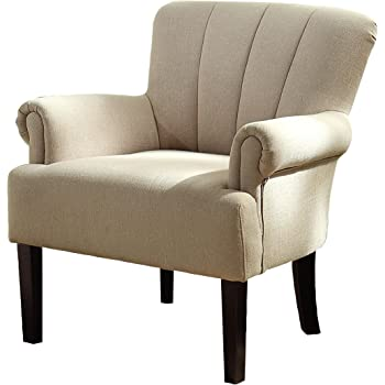 Amazon Com Homelegance 1212f1s Flared Arm Accent Chair