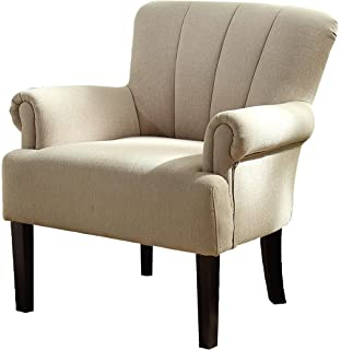 homelegance 1212f1s flared arm accent chair solid camel fabric