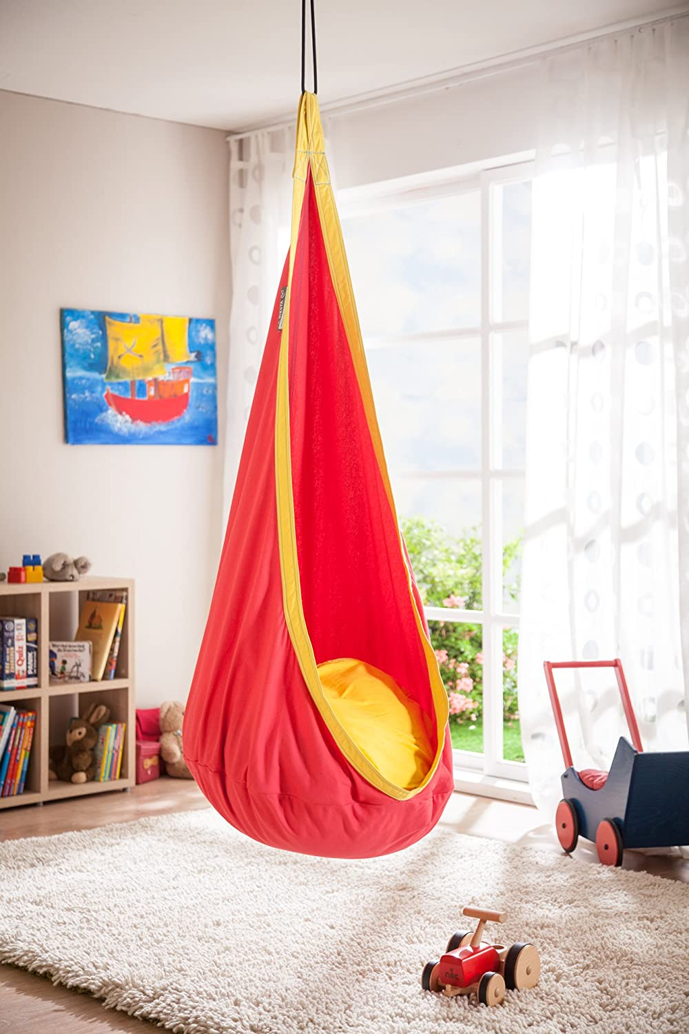 Amazon.com  LA SIESTA Joki Cherry - Cotton Kids Hanging Nest  Hammocks  Garden u0026 Outdoor & Amazon.com : LA SIESTA Joki Cherry - Cotton Kids Hanging Nest ...
