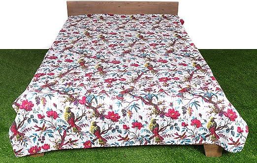 Paisley Handmade Kantha Quilt Bedspread Boho Hippie Blanket Ralli Indian Gudari