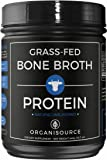 Bone Broth Protein Powder by Organisource (16 ounces) Pure Unflavored with Collagen Peptides | Grass-Fed Pasture Raised, Keto and Paleo Friendly | Non-GMO, Soy-Free and Gluten-Free | For Men and Women