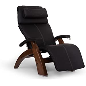 Human Touch Perfect Chair PC-420 Classic Plus Top Grain Leather Zero Gravity Recliner, Black