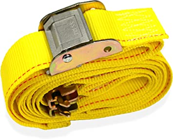 """2/"""" x 12/' Cam Buckle Straps with E-Fittings 8 Pack"""