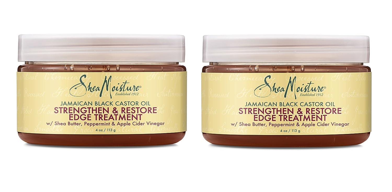 Shea Moisture Jamaican Black Castor Oil Strengthen & Restore Edge Treatment, 4 Oz, Pack of 2: Beauty
