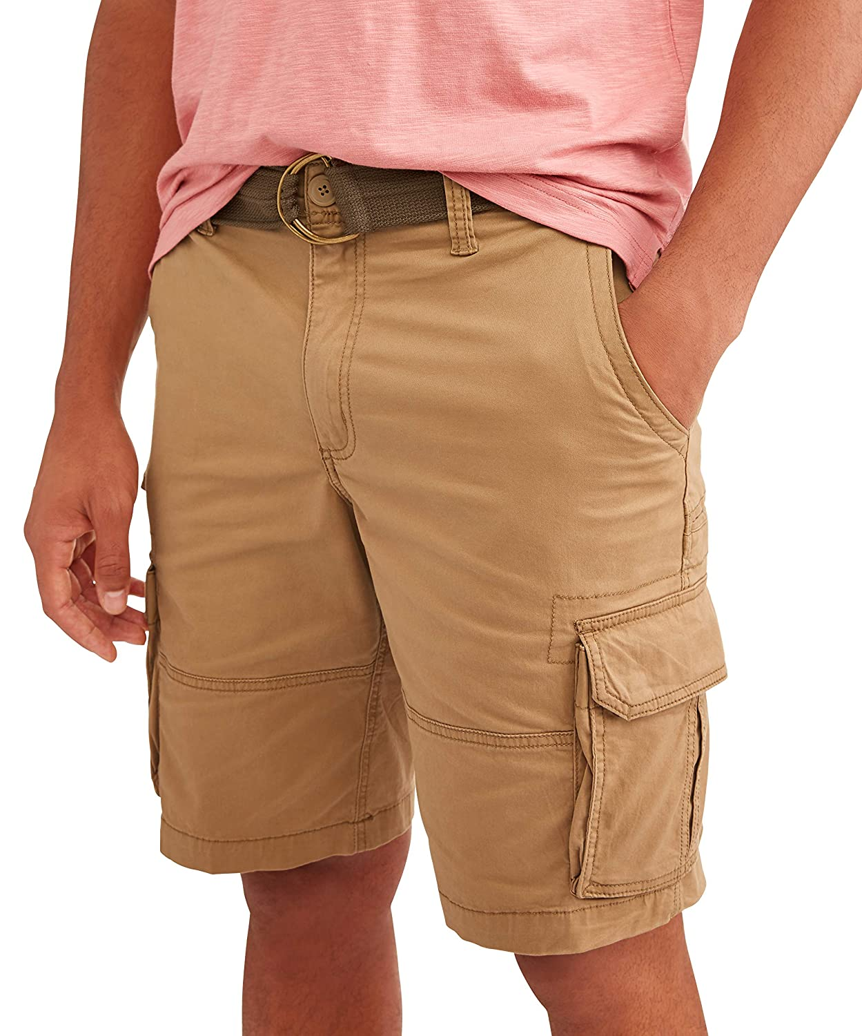 George Camo Camouflage At The Knee Stacked Cargo Shorts