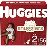 Diapers Size 2 - Huggies Little Snugglers Disposable Baby Diapers, 156ct, Mega Colossal Pack