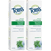 Tom's of Maine Ice Wicked Fresh, Paste, Natural Toothpaste, Toms Toothpaste, Spearmint...