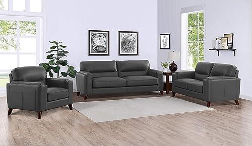 Hydeline Elm 100 Leather Sofa