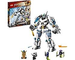 71738 LEGO® NINJAGO® Legacy O Combate do Robô Titã de Zane; Kit de Construção (840 peças)