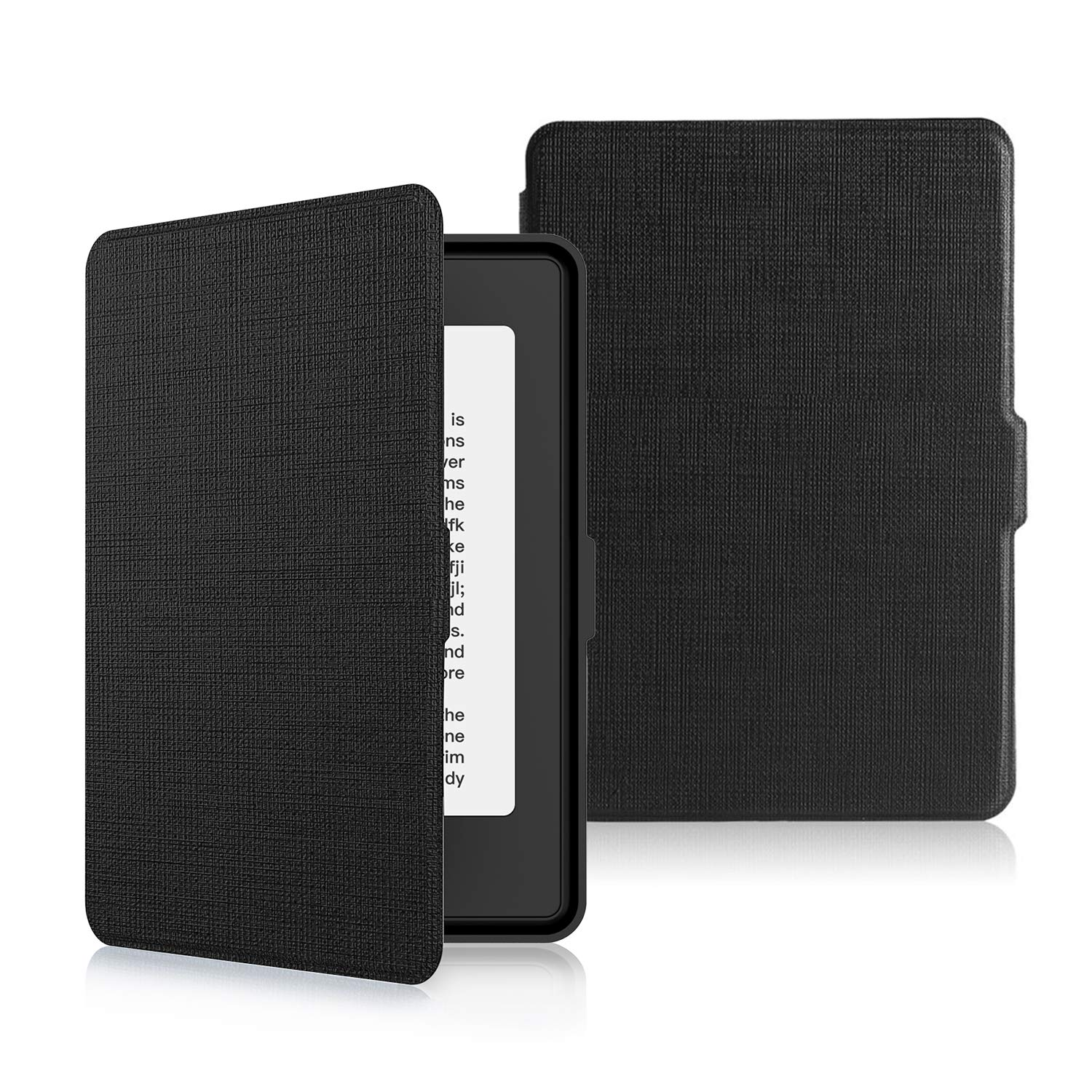 Kindle Paperwhite Cases Lightweight Thinnest Shell Cover Magnetic PU Leather Case, Auto Wake / Sleep E-reader Protective Case For Kindle Paperwhite 3 / 1 / 2, Black