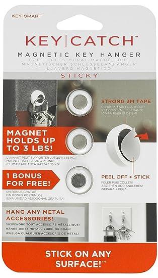 The Key Catch Sticky By Key Smart: A Modern Magnetic Key Rack (3 Pack) by Amazon
