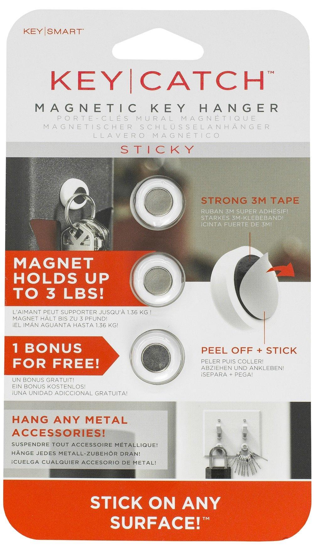 KeySmart KeyCatch Sticky A Modern Magnetic Key Rack (3 Pack)