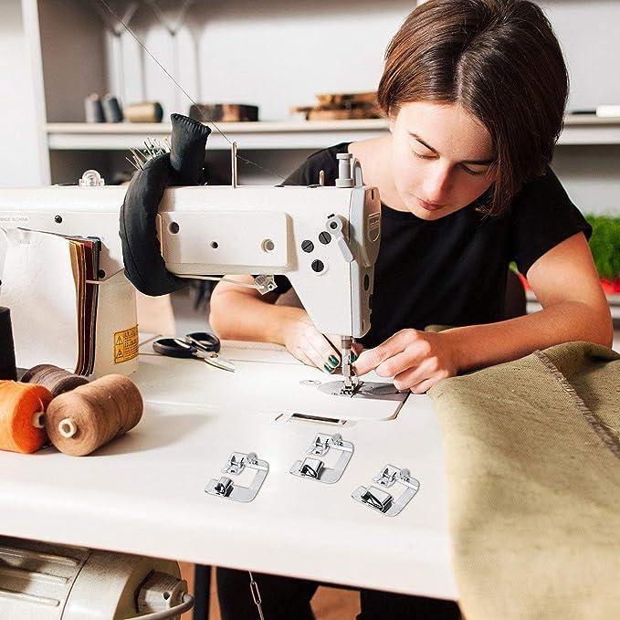 SunnyGod Decoración de la Sala Hogar portátil Casa Multifuncional 3 tamaños Máquina dobladora de pie Dobladillo prensatelas ectric Costura - (Tamaño: 25 ...