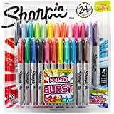 Sharpie Color Burst WjFhql Permanent Markers, Fine Point, Assorted Colors, 24 Count (Pack of 2)