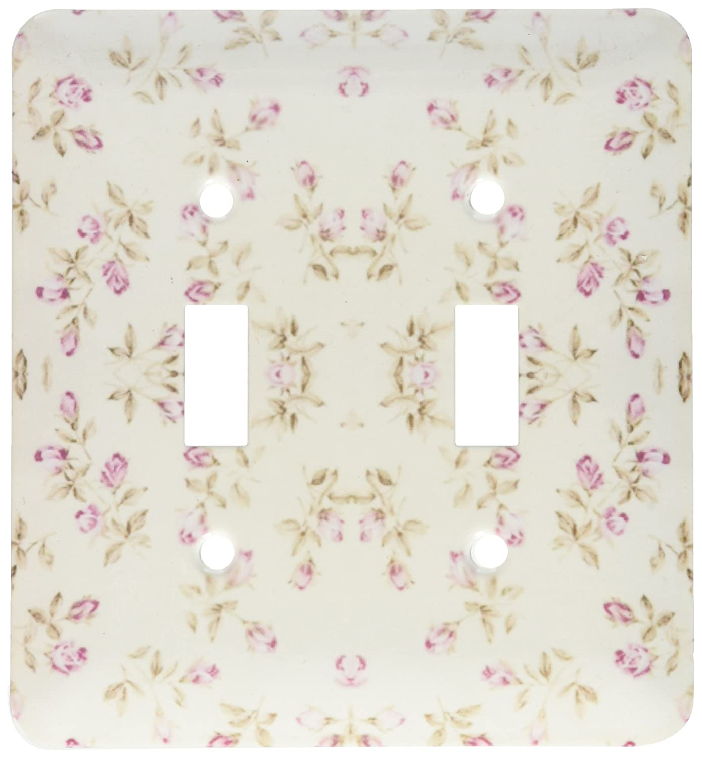 3dRose lsp/_174380/_2 Image of Tiny Pink Floral Repeat in Shabby Chic Style Light Switch Cover