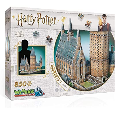 Wrebbit 3D - Harry Potter Hogwarts Great Hall 3D Jigsaw Puzzle - 850Piece: Toys & Games
