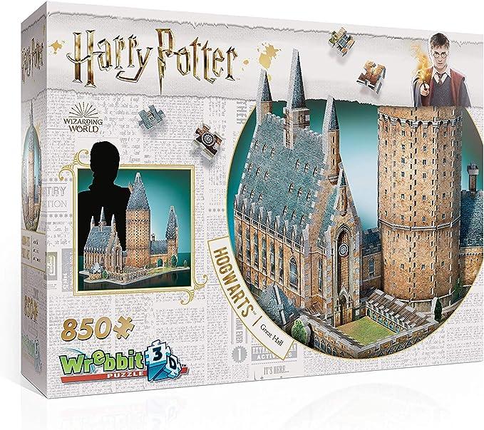 Amazon.com: Wrebbit 3D - Harry Potter Hogwarts Great Hall 3D Jigsaw Puzzle - 850Piece: Toys & Games