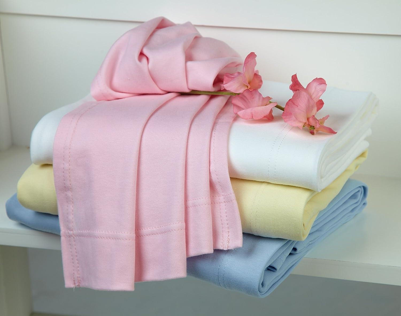 Clair de Lune Set di lenzuola morbide in jersey di cotone per lettino Rosa Pink 70 x 140 cm