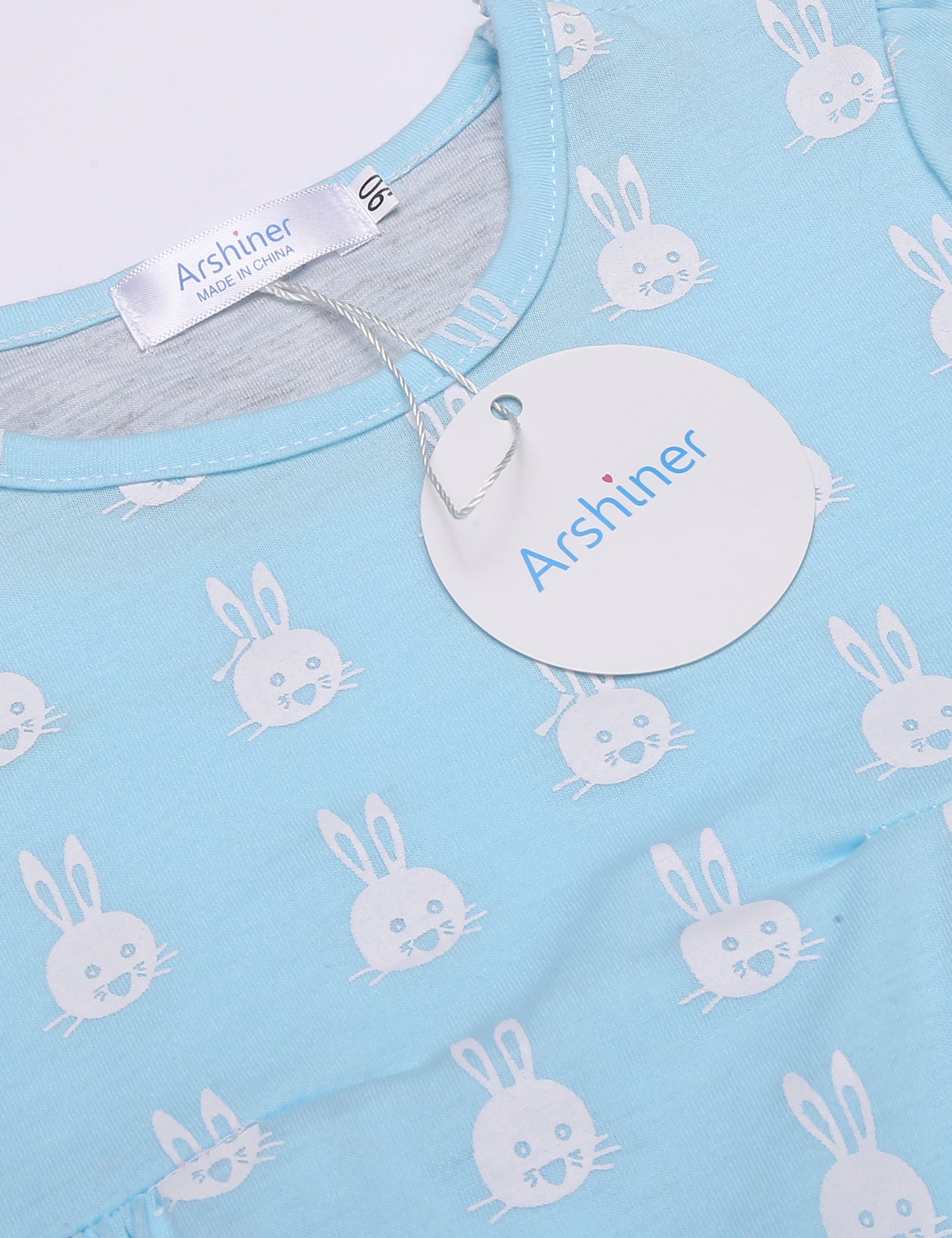 Arshiner Little Girls Clothing Sets Bunny Long Sleeve Outfits 2 PCS Top Leggings Pajamas Sets