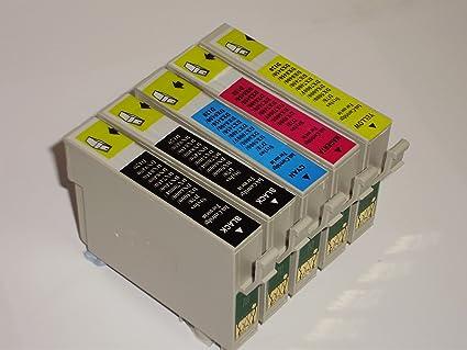 5 cartuchos de tinta compatibles para impresoras Epson ...
