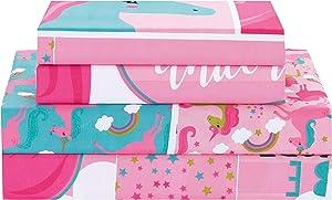 Sapphire Home Three (3) Piece Twin Size Unicorn Rainbows Theme Print Sheet Set with Fitted, Flat and 1 Pillow Case, Hot Pink Girls Kids Bedding Sheet Set, (Sheet, T, Unicorn)