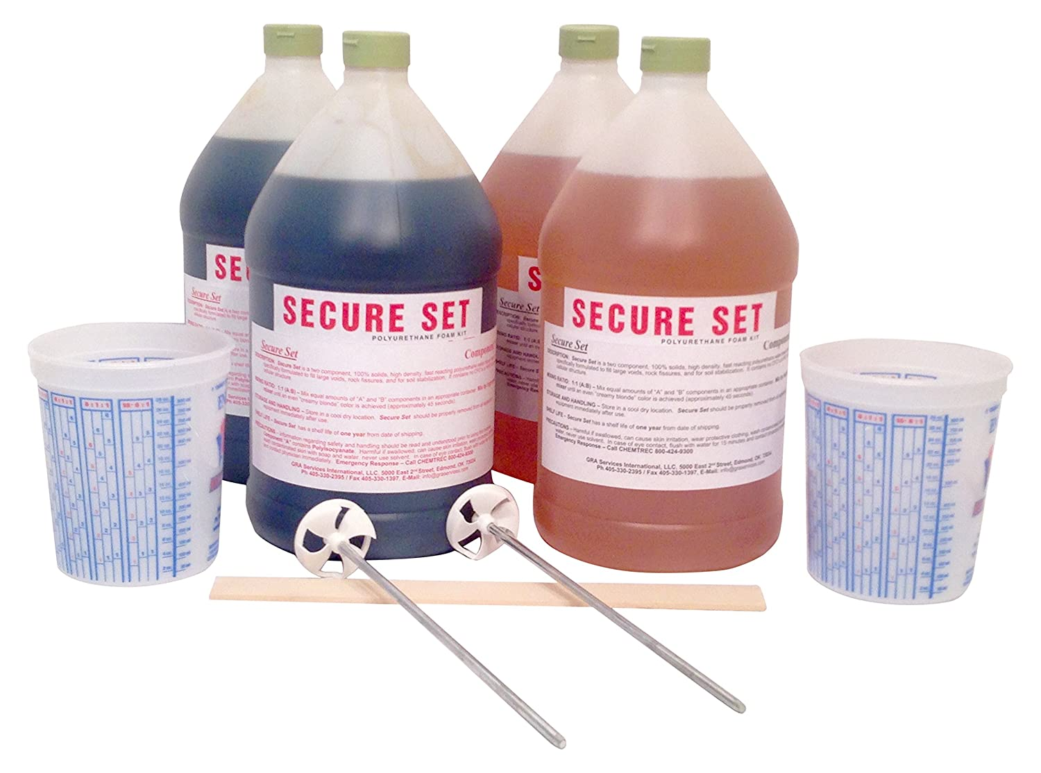 Secure Set - 20 Post Kit - Commercial Grade -4 Gallons  Fast, Secure & Safe  Concrete Alternative for Easy Fence Post Installation
