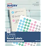 """Avery Matte Print-to-the-Edge Round Labels, 3/4"""" Diameter, Pack of 800 (4221)"""
